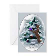 Basenji Christmas Greeting Card