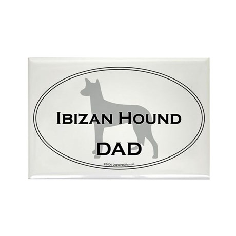 Ibizan Hound DAD Rectangle Magnet