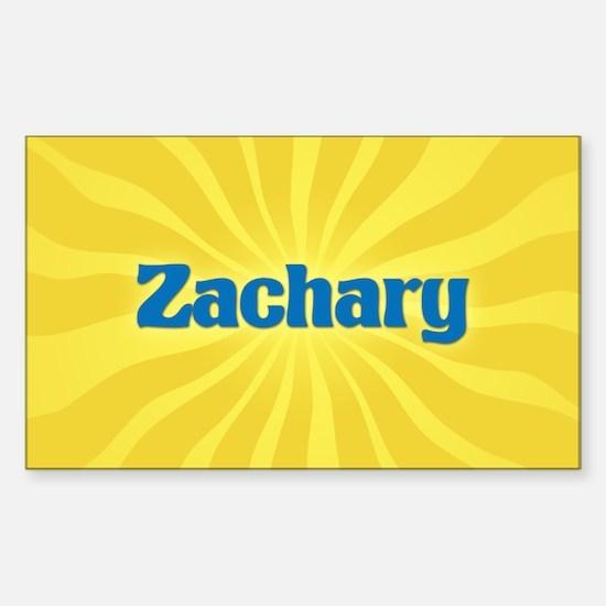 Zachary Sunburst Oval Decal