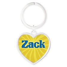 Zack Sunburst Heart Keychain