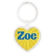 Zoe Sunburst Heart Keychain