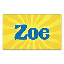 Zoe Sunburst Oval Decal