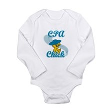 CPA Chick #3 Long Sleeve Infant Bodysuit