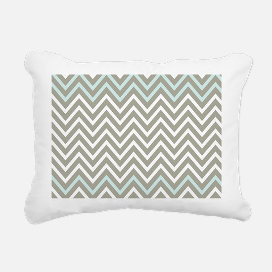 Cool Gray and Blue Chevron Rectangular Canvas Pill