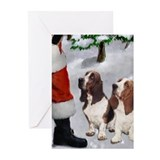 Basset hound christmas Greeting Cards (10 Pack)