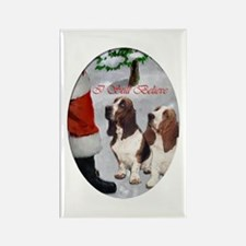 Basset Hound Christmas Rectangle Magnet (10 pack)