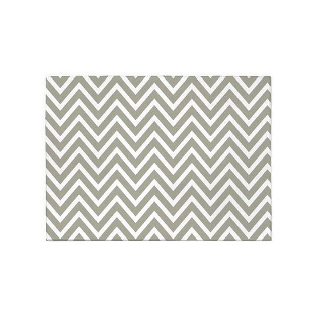 Chevron Stripe Rug: Gray Chevron Stripes 5'x7'Area Rug By Chevroncitystripes