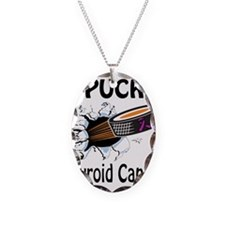 Puck Thyroid Cancer Necklace Oval Charm