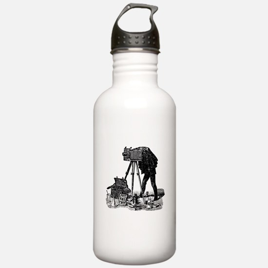 Vintage Photographer Water Bottle
