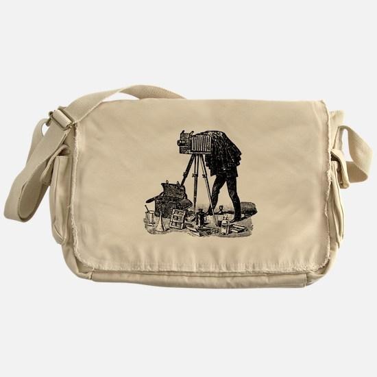 Vintage Photographer Messenger Bag