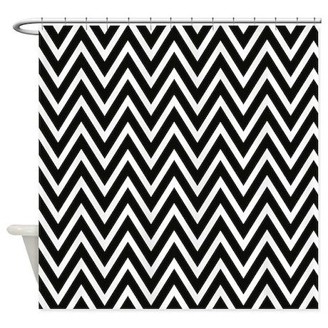 Chevron Shower Curtain Black And White