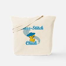 Cross-Stitch Chick #3 Tote Bag