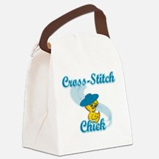 Cross-Stitch Chick #3 Canvas Lunch Bag