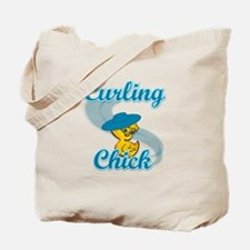Curling Chick #3 Tote Bag