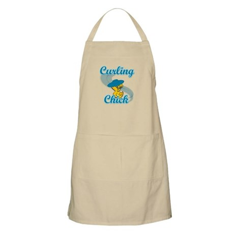 Curling Chick #3 Apron