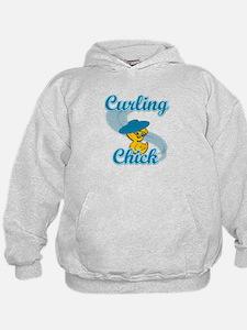 Curling Chick #3 Hoodie