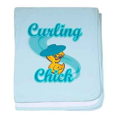 Curling Chick #3 baby blanket