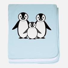 Penguin family baby blanket