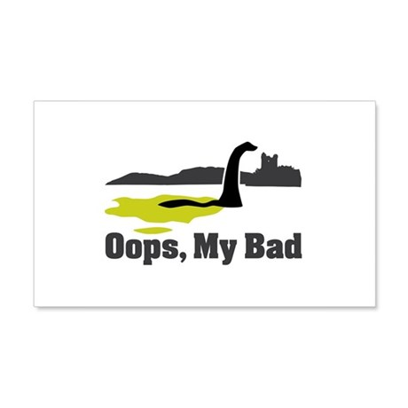 Oops, My Bad 20x12 Wall Decal