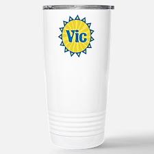 Vic Sunburst Stainless Steel Travel Mug