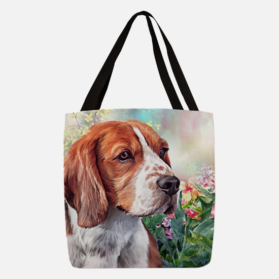 Beagle Painting Polyester Tote Bag