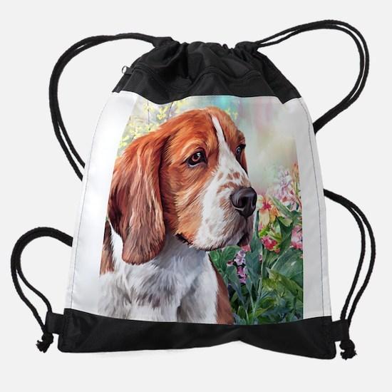 Beagle Painting Drawstring Bag
