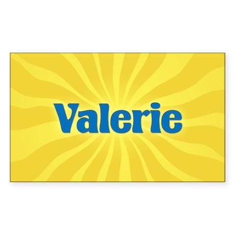 Valerie Sunburst Rectangle Sticker
