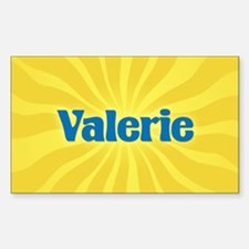 Valerie Sunburst Oval Decal