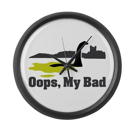 Oops, My Bad Large Wall Clock