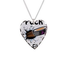 Puck Cystic Fibrosis Necklace Heart Charm