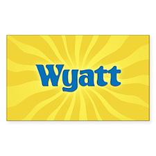 Wyatt Sunburst Oval Decal