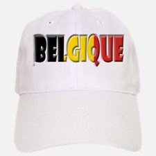 Word Art Flag of Belgique Baseball Baseball Cap