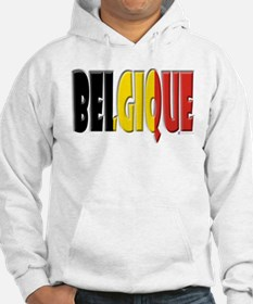 Word Art Flag of Belgique Hoodie