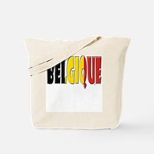 Word Art Flag of Belgique Tote Bag