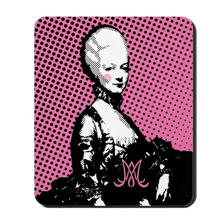 Marie Antoinette Pop Art Mousepad