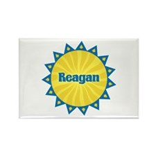 Reagan Sunburst Rectangle Magnet