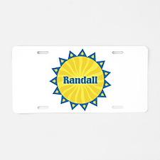 Randall Sunburst Aluminum License Plate