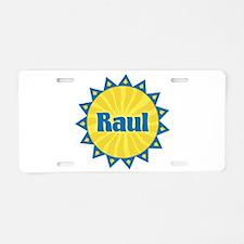 Raul Sunburst Aluminum License Plate