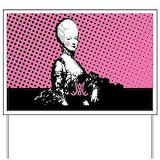 Marie Antoinette Pop Art Yard Sign