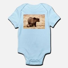 Grizzly Bear with cubs Infant Bodysuit