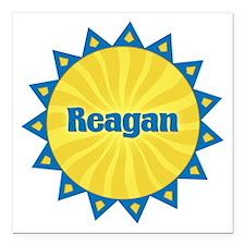 Reagan Sunburst Square Car Magnet