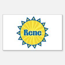 Rene Sunburst Rectangle Decal