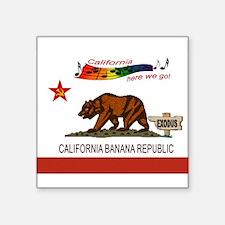 """CALIFORNIA Square Sticker 3"""" x 3"""""""