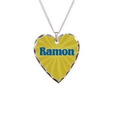 Ramon Sunburst Necklace Heart Charm