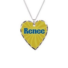 Renee Sunburst Necklace Heart Charm