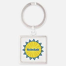 Rebekah Sunburst Square Keychain