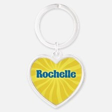 Rochelle Sunburst Heart Keychain