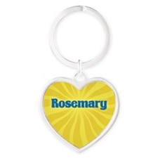 Rosemary Sunburst Heart Keychain