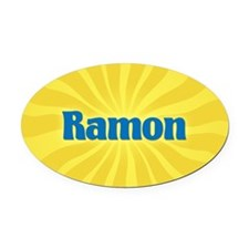 Ramon Sunburst Oval Car Magnet