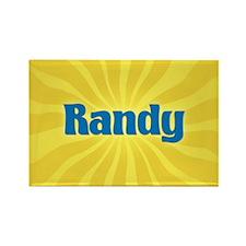 Randy Sunburst Rectangle Magnet